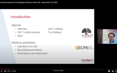 ECPA's webinar: improved packaging line efficiency with Overall Equipment Effectiveness (OEE)